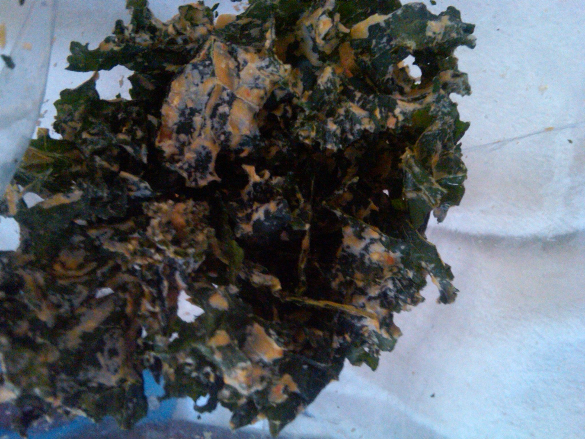 Cheezy Pizza Kale Chips
